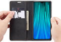 Black CaseMe Premium PU Leather Wallet Case For Huawei Mate 20  - 5