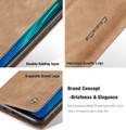 Brown Huawei Mate 20 CaseMe Premium PU Leather Wallet Case - 4