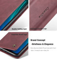 Red Wine Huawei Mate 20 Genuine CaseMe Compact Flip Wallet Case - 6