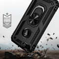 Black 360 Rotating Metal Ring Slim Armor Stand Case for iPhone SE 2020 - 2