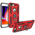 Red 360 Rotating Metal Ring Slim Armor Stand Case for iPhone SE 2020 - 1