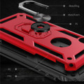 Red 360 Rotating Metal Ring Slim Armor Stand Case for iPhone SE 2020 - 2