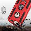 Red 360 Rotating Metal Ring Slim Armor Stand Case for iPhone SE 2020 - 6