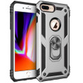 Silver iPhone SE 2020 Shock Proof 360 Rotating Metal Ring Stand Case - 1
