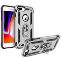 Silver iPhone SE 2020 Shock Proof 360 Rotating Metal Ring Stand Case - 4
