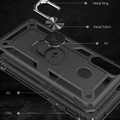 Black Shock Proof 360 Rotating Metal Ring Stand Case For Galaxy A20s  - 5