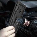 Black Shock Proof 360 Rotating Metal Ring Stand Case For Galaxy A20s  - 6
