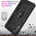 Black Shock Proof 360 Rotating Metal Ring Stand Case For Galaxy A20s  - 4