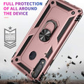 Rose Gold Galaxy A20s Hybrid  Shock Proof Rotating Metal Ring Case - 3