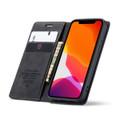 Black iPhone 12 Pro Genuine CaseMe Compact Flip Wallet Case - 3