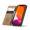 Brown CaseMe Premium PU Leather Wallet Case For iPhone 12 Pro  - 2