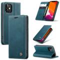 Blue iPhone 12 Pro CaseMe Synthetic Leather Wallet Case - 1