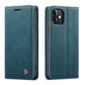 Blue iPhone 12 Pro CaseMe Synthetic Leather Wallet Case - 2