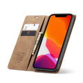 Brown CaseMe Premium PU Leather Wallet Case For iPhone 12 Pro Max  - 3
