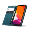 Blue Premium CaseMe Thin Magnetic Wallet Case For iPhone 12 Mini  - 5