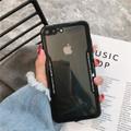 Black Apple iPhone 7 / 8 Clear Acrylic Back Slim Armor Case Cover - 2