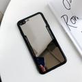 Black Apple iPhone 7 / 8 Clear Acrylic Back Slim Armor Case Cover - 4
