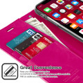 Hot Pink Genuine Mercury Mansoor Diary Wallet Case For  iPhone 11 - 2