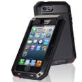 Black iPhone SE 2020 Water Resistant Shockproof Defender Metal Case - 1