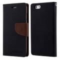 Mercury Goospery Fancy Diary iPhone 4S / 4 Wallet Case - Black / Brown - 1