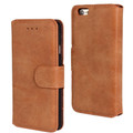 Brown Luxury Retro Vintage Matte Wallet for iPhone 5 / 5S / SE 1st Gen - 1