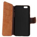 Brown Luxury Retro Vintage Matte Wallet for iPhone 5 / 5S / SE 1st Gen - 2
