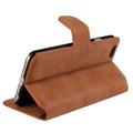 Brown Luxury Retro Vintage Matte Wallet for iPhone 5 / 5S / SE 1st Gen - 3