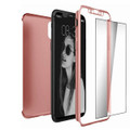Rose Gold iPhone X / XS 360 Full Body Protection Case + Tempered Glass - 2