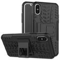 Apple iPhone XS Max Heavy Duty Kickstand  Case Cover - Black - 1