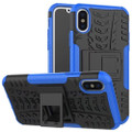Blue Apple iPhone XS Max Heavy Duty Defender Kickstand  Case Cover
