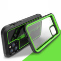Green iPhone 11 Pro Max Military Shock Proof Case w/ Clear Acrylic Back - 1