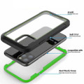 Green iPhone 11 Pro Max Military Shock Proof Case w/ Clear Acrylic Back - 2