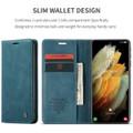 Blue Galaxy S21 Ultra 5G CaseMe Samsung Classic Folio Wallet Case - 6