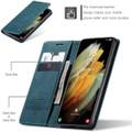 Blue Galaxy S21 Ultra 5G CaseMe Samsung Classic Folio Wallet Case - 7