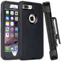 Black iPhone 6 / 6S Tradies Heavy Duty Defender Holster Belt Clip Case - 1