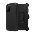Black Galaxy S20 Full Body Rugged Shockproof Military Grade Tough Case - 2