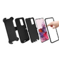 Black Galaxy S20 Full Body Rugged Shockproof Military Grade Tough Case - 3