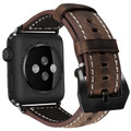 Brown Apple Watch 38mm/40mm Vintage Retro Genuine Leather Band For  Series 1/2/3/4/5/6/SE - 1