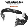 Black Apple Watch 42mm/ 44mm Small Slim Wrist Genuine Leather Band Strap - 6