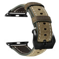 Tarmac Vintage Retro Genuine Leather Band For Apple Watch 42mm/44mm Series 1/2/3/4/5/6/SE - 3