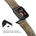 Tarmac Vintage Retro Genuine Leather Band For Apple Watch 42mm/44mm Series 1/2/3/4/5/6/SE - 5