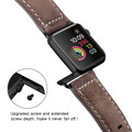 Brown Apple Watch 42mm/44mm Vintage Retro Genuine Leather Band For Series 1/2/3/4/5/6/SE - 3