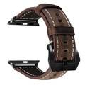 Brown Apple Watch 42mm/44mm Vintage Retro Genuine Leather Band For Series 1/2/3/4/5/6/SE - 6
