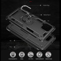 Black Galaxy A42 5G Shock Proof 360 Rotating Metal Ring Stand Case - 2
