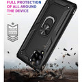 Black Galaxy A42 5G Shock Proof 360 Rotating Metal Ring Stand Case - 8