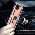 Rose Gold Galaxy A42 5G Slim Armor 360 Rotating Metal Ring Stand Case - 2