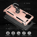Rose Gold Galaxy A42 5G Slim Armor 360 Rotating Metal Ring Stand Case - 4