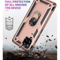 Rose Gold Galaxy A42 5G Slim Armor 360 Rotating Metal Ring Stand Case - 6