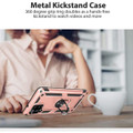 Rose Gold Galaxy A42 5G Slim Armor 360 Rotating Metal Ring Stand Case - 7