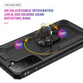 Black Shock Proof 360 Rotating Metal Ring Stand Case For Galaxy S21+ Plus - 2